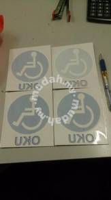 Sticker oku blue