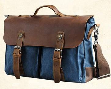 Urban Blue Briefcase Porter Laptop Sling Work Bag