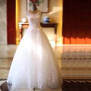 White Wedding bridal dinner dress gown RB0255