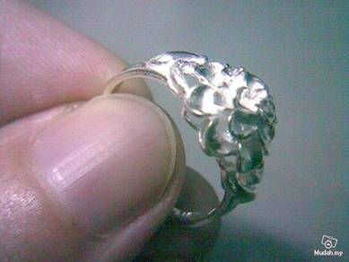 ABRS9-F005 Flower Fashion Jewelry Silver Ring - S6
