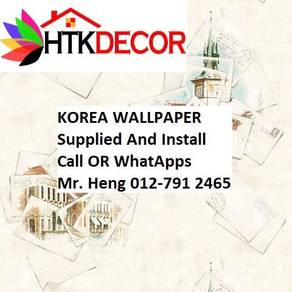 PVC Vinyl Wall paper with Expert Install B629W