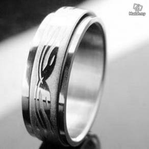 ABRSS-S004 2-Snake Silver 2 Layer Stainless Ring 9