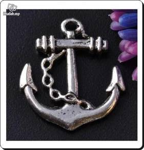 ABPSM-A001 Silver Metal Anchor Pendant Necklace