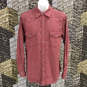 UNION MADE RED WESTERN PEARL SNAP shirt size L