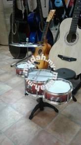 Drum Set 3 pcs : Maroon with stool