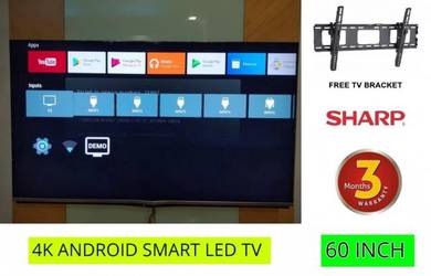 Sharp 60 Inch Smart TV 4K Android LED Smart TV UHD