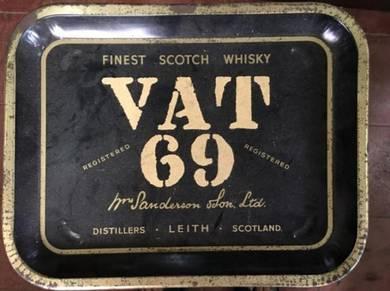 Vat 69 Scotch_Wisky_Papan Iklan Metal Signboard