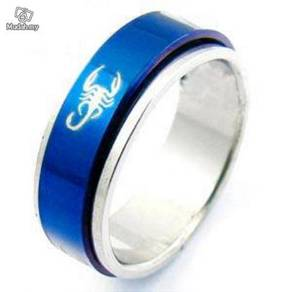 ABRSS-S003 Novel Blue 4-Scorpion 2 Layer Spin Ring