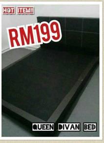 Queen divan bed paling murah #5400