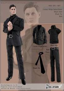 Luxury Stripe Jacket Pants suit-1/6 scale-toy Use