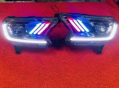 Ford ranger t7 t8 led headlamp head lamp light s