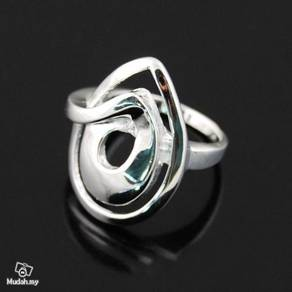 ABRS9-U002 Unique Silver 925 Ring Mens - Size 8