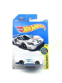 Hotwheels 17' 2016 Ford GT Race #1 White