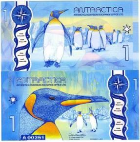 Antarctica 1 dollar 2015 (2016) polymer unc