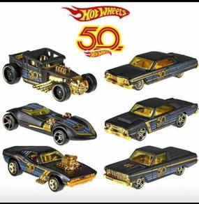 Hot Wheels 50th Anniversary Black and Gold Series