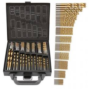 99pcs HSS Titanium Twisted Drill Bit Set 1.5-10mm