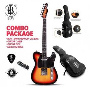 BLW Electric Guitar Telecaster - Orange Black