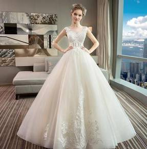 White wedding bridal dress gown RB2048