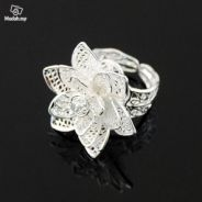 ABRWG-R006 Rose Silver White Gold Filled Ring FS