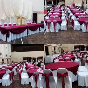 Meja dan kerusi plastik / kerusi banquet