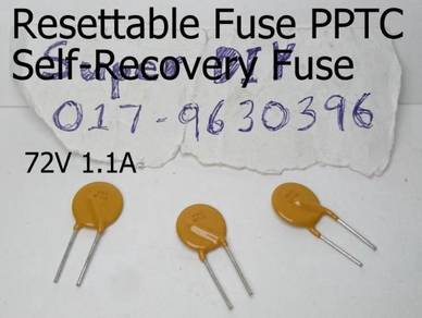 72V 1.1A PPTC resettable fuse Self-Recovery Fuses