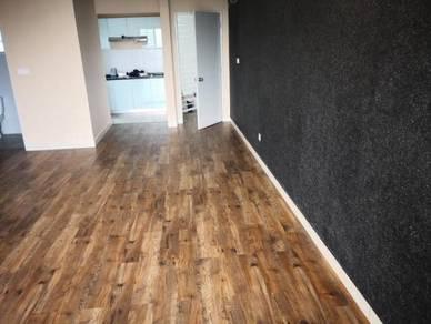 Vinyl Floor Lantai Timber Laminate PVC Floor M439