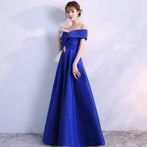 Blue wedding prom evening dress gown RBP1045