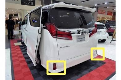 Toyota alphard vellfire 30 reflector led rear bump