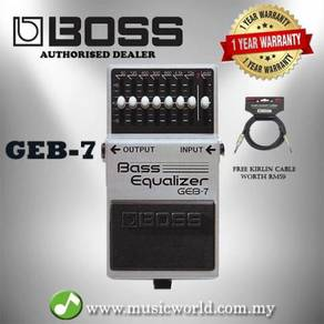 Boss geb-7 bass equalizer guitar effect pedal