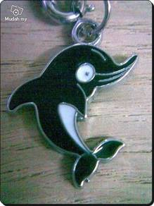 ABPSM-D002 Silver Metal Dolphin Pendant Necklace