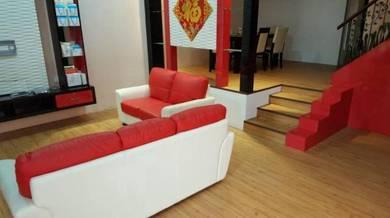 Vinyl Floor Lantai Timber Laminate PVC Floor M434