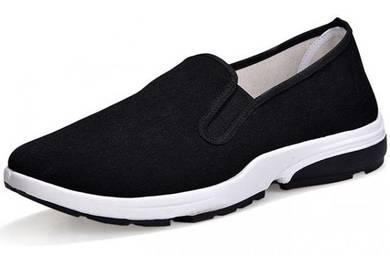 SA0269 Black Slip On Wear Breathable Kasut Shoes