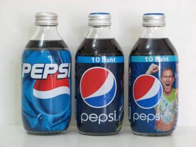 Pepsi Cola Thiland Fat Glass Bottle