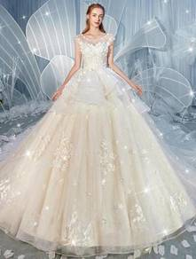 Cream fishtail wedding bridal dress gown RB2046