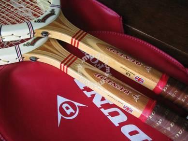 (B149) NOS Dunlop MaxPly (2 Pcs) Wooden Racquets