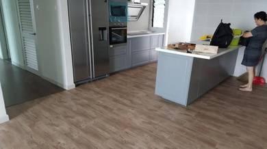 Vinyl Floor Lantai Timber Laminate PVC Floor M438