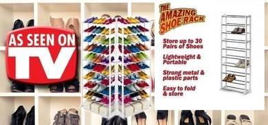 Kltn - Rak kasut 10 tingkat pelbagai guna