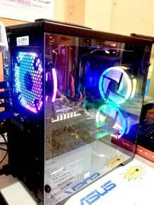 Desktop RGB LED FAN NEW CASING 4GB RAM SSD 120GB