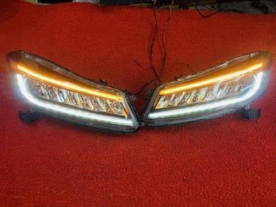 Honda accord led headlamp head lights light lamp H