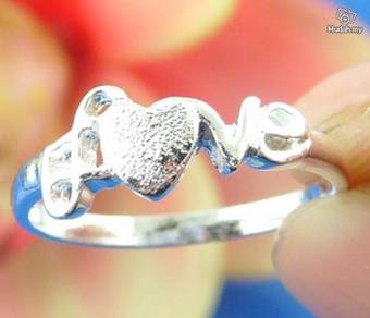 ABRS9-L001 Nice Love Letter Silver 925 Ring -Lover
