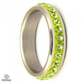 ABRSS-W001 Wedding Stainless Gems Crystal Ring