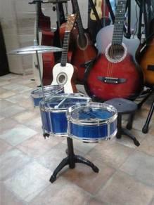 Drum Set 3 pcs Blue with stool