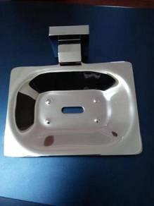 Aluminium soap dish holder
