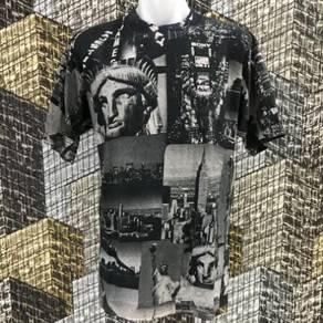 AMERICA FULL PRINT VINTAGE shirt size L
