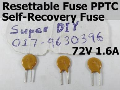 72V 1.6A PPTC resettable fuse Self-Recovery Fuses