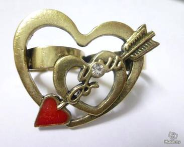 ABRB-L002 Fashion New Love Cupid One Double Hearts