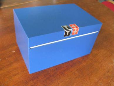 (B81) Pre Owned Large Blue Tissot Watch Box