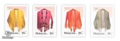 Mint Stamps Fashion Heritage Malaysia 2002
