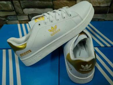 Adidas Superstar Sneakers Shoes White Gold