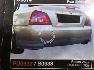 Proton waja rear skirt r3 pu without paint